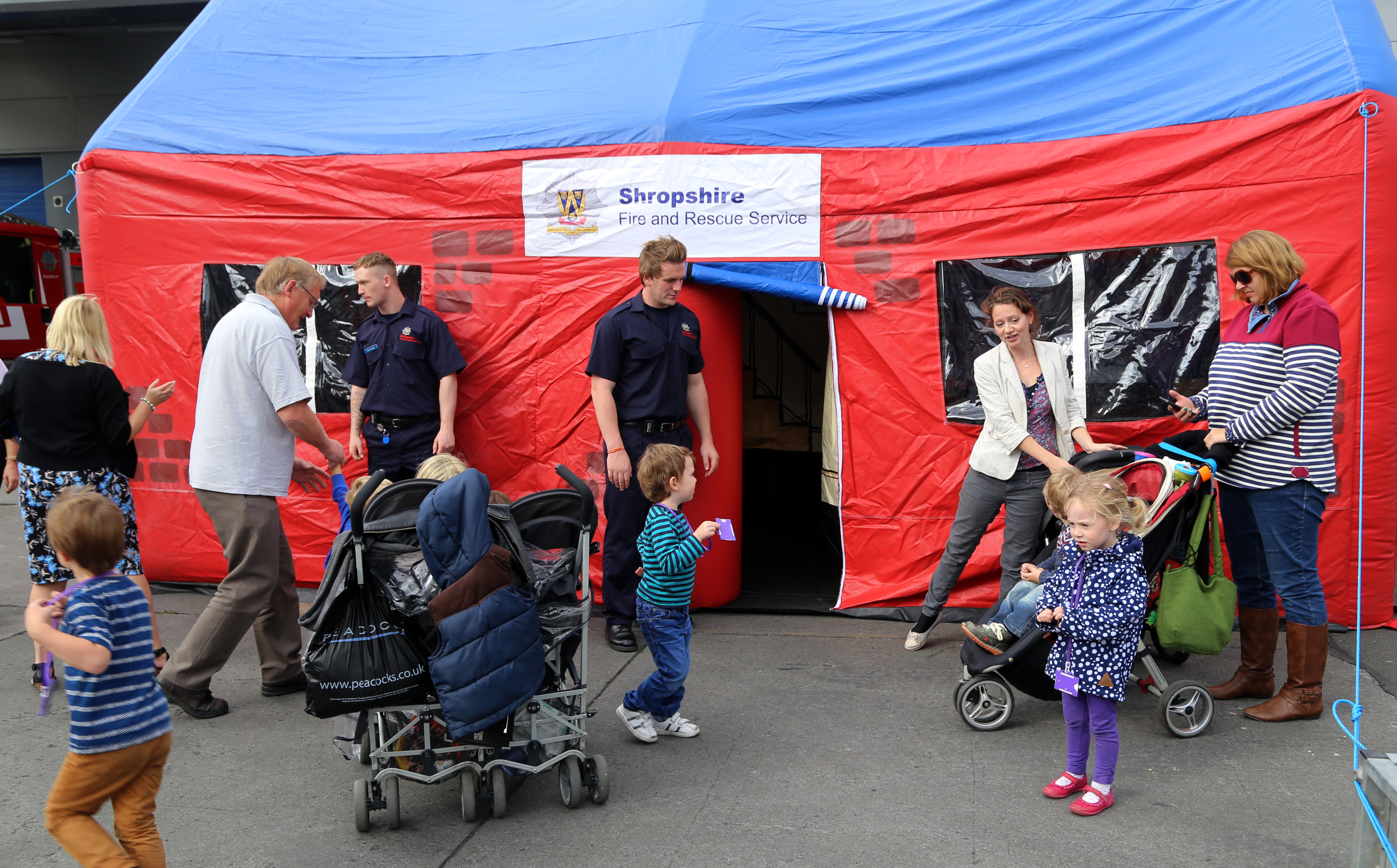 ... Plenty of visits to the educational smoke tent ... & Shrewsbury Fire Station Open Day | Shropshire Fire and Rescue Service