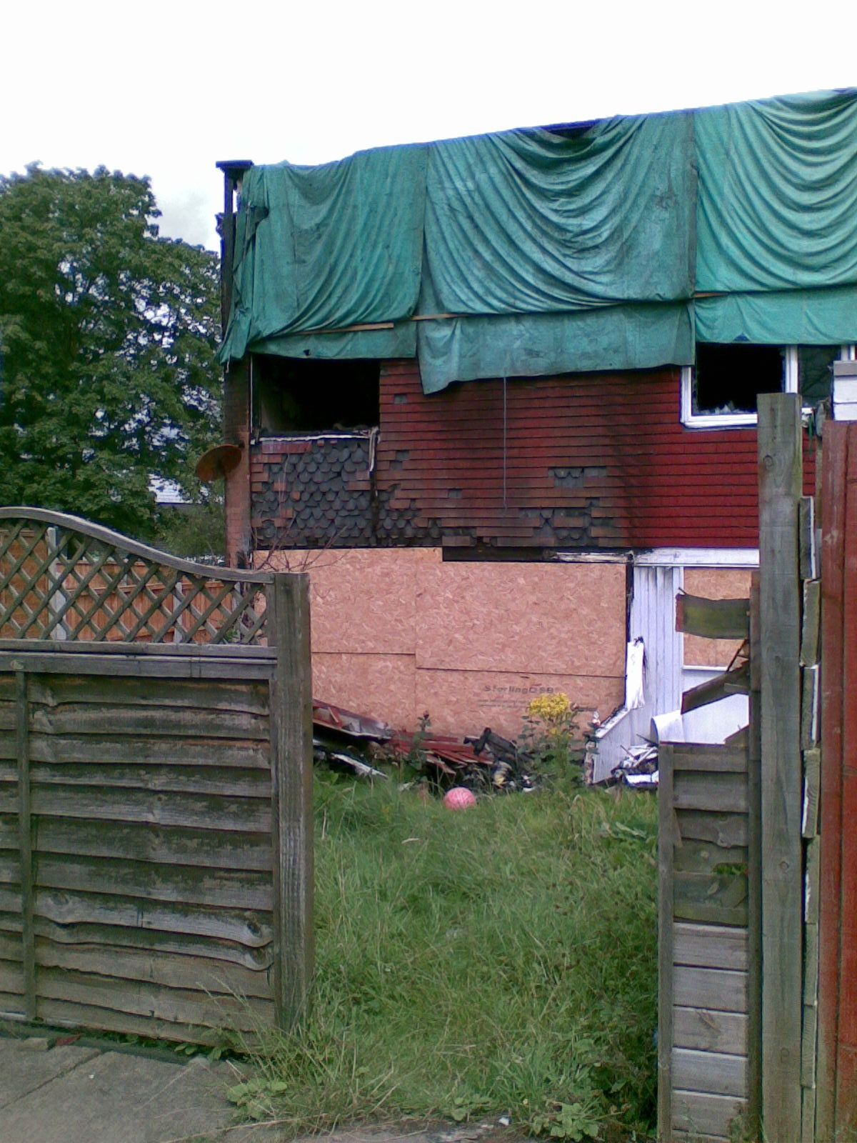 This empty property in Sutton Hill, Telford, was set on fire