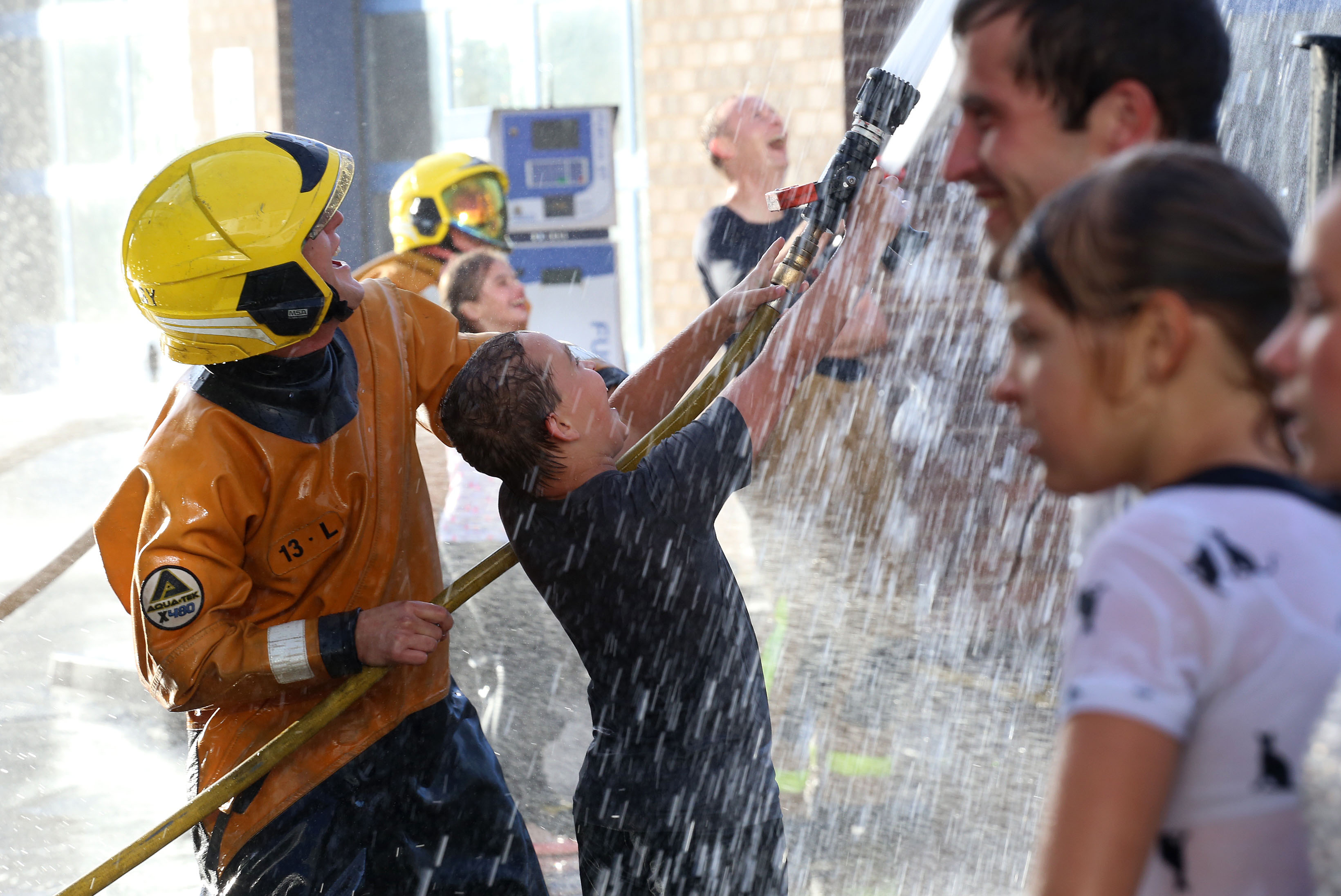 Fun with Shropshire firefighters for a boy from Chernobyl