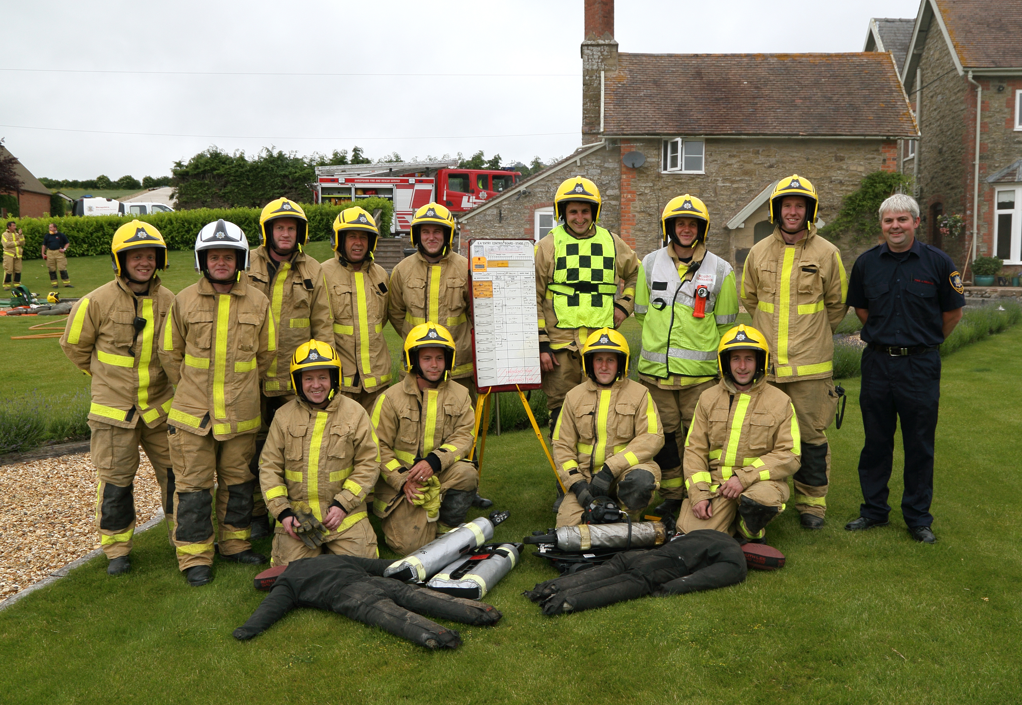 Craven Arms firefighters