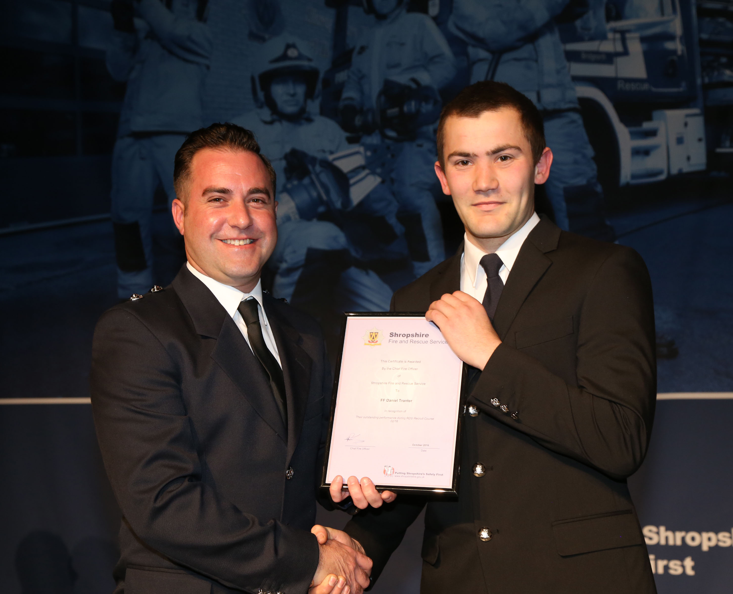 Factory worker Daniel Tranter, from Bishops Castle, won the top student award for his course.