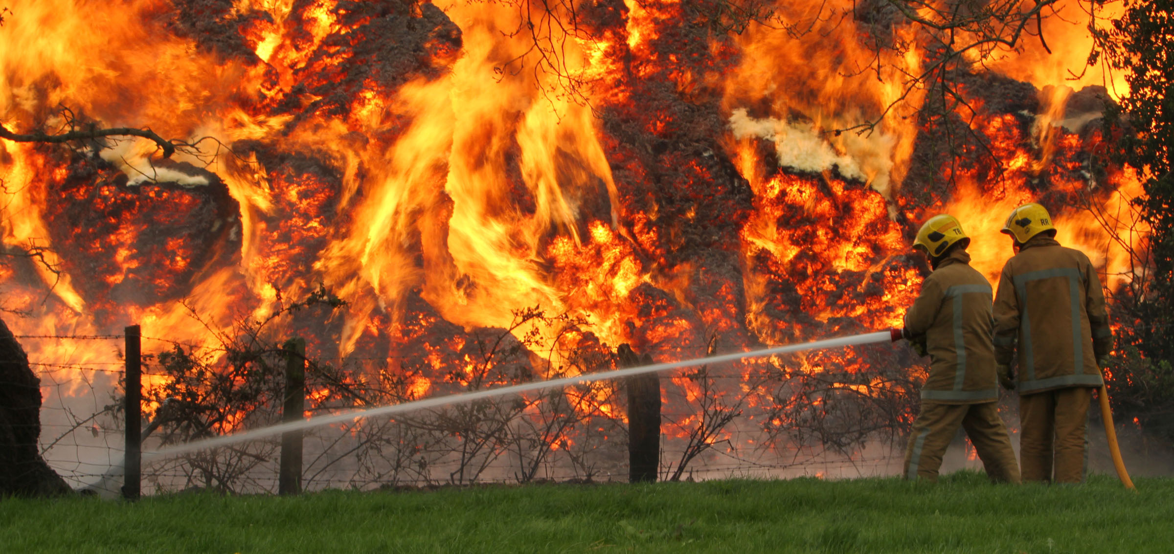 The most intense fire ever attended by Shropshire firefighter Roger Smith in 2011