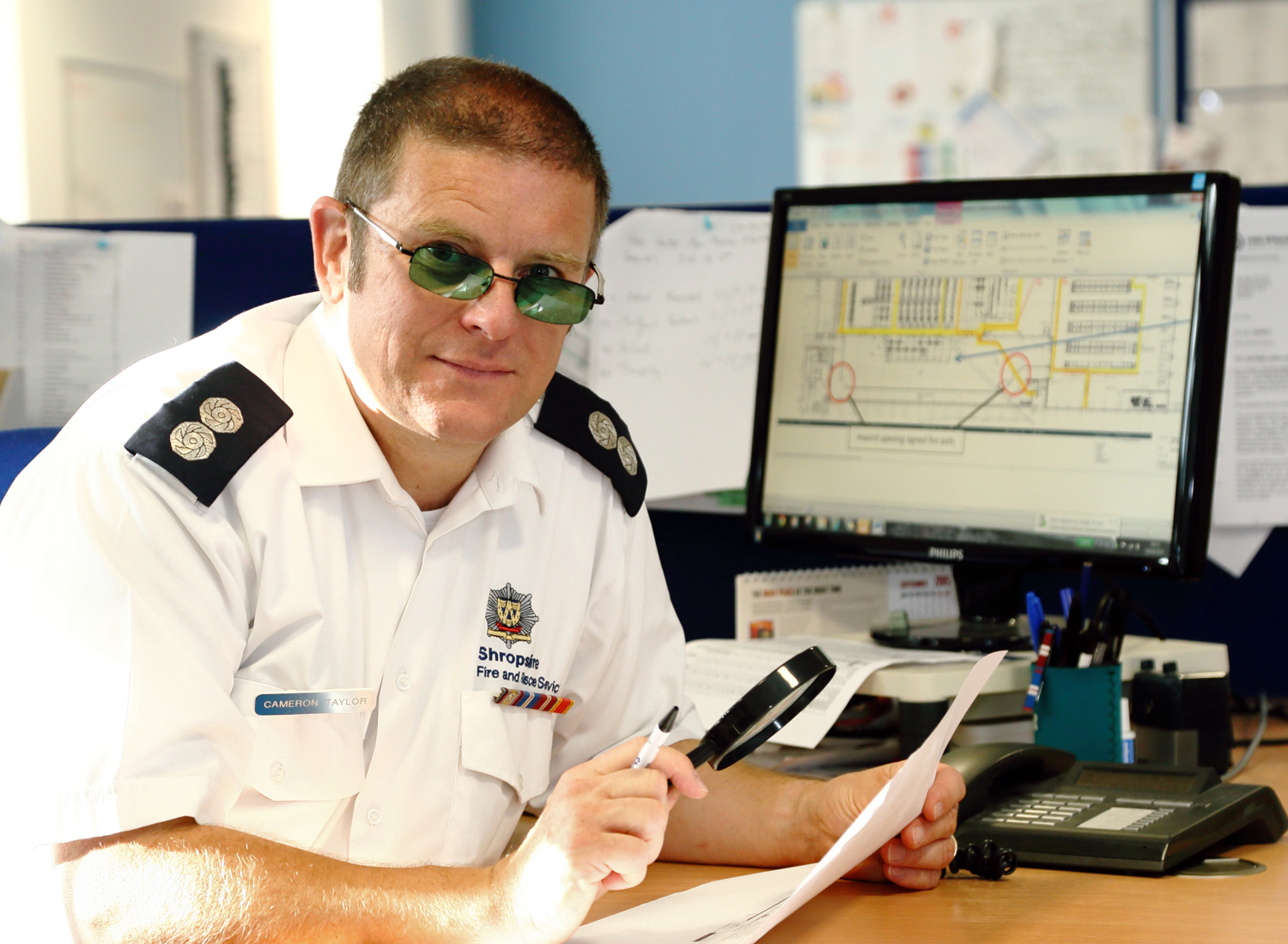 Watch Manager Cameron Taylor (48) has received help with the extra paperwork he now deals with in business fire safety.