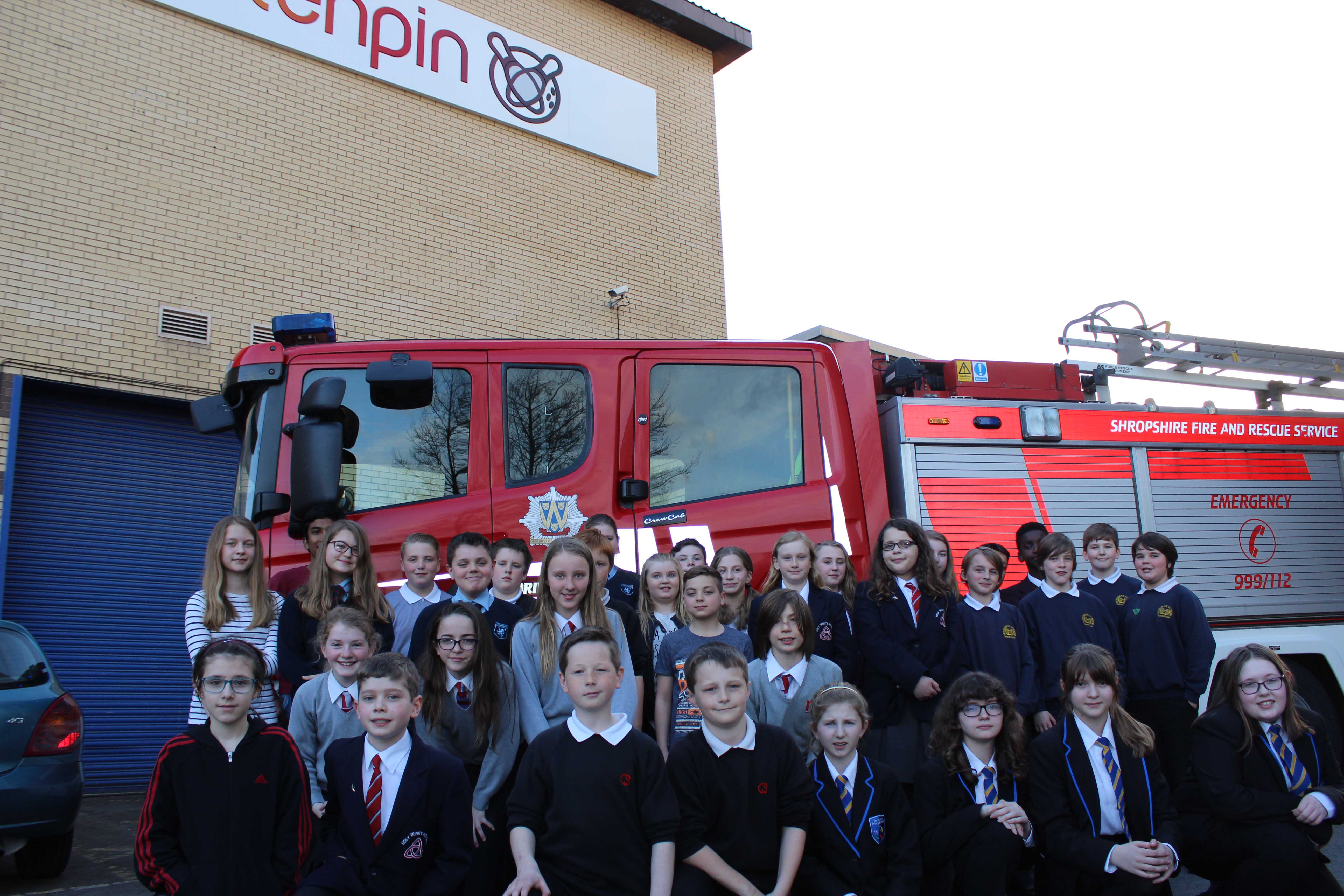 More than 2,400 Shropshire children learned important life skills in the annual fire safety quiz Pictured are some of the winning teams from across the county.