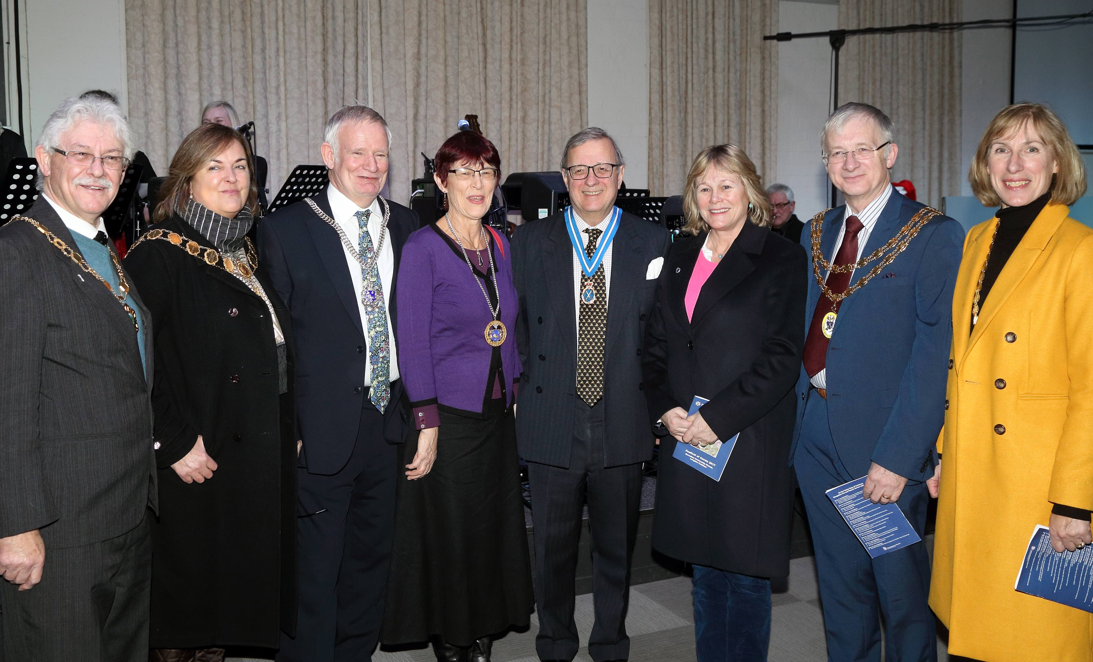 Dignitaries including the High Sheriff attended Shropshire Fire and Rescue Service's Festival of Carols