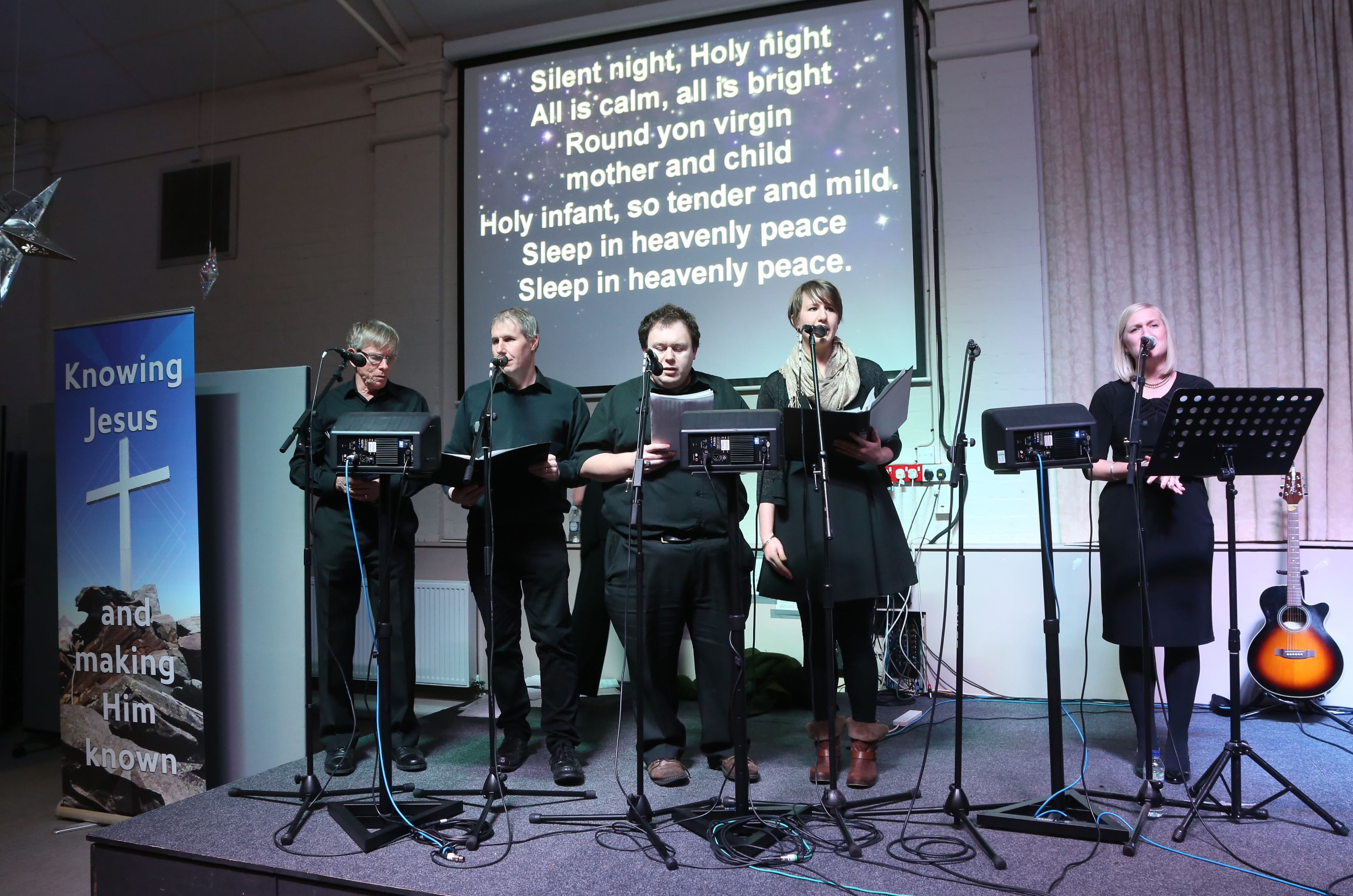 Barnabas Community Church choir led the carol singers
