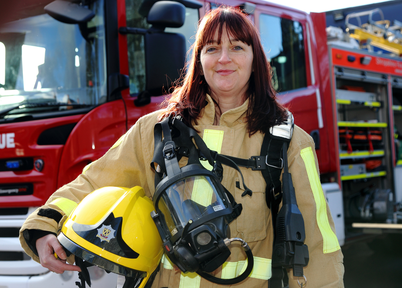 """Women from across Shropshire who are interested in learning more about becoming """"on call"""" firefighters attend a taster session at Oswestry Fire Station"""