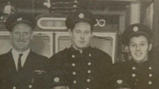 Roger Smith (centre) said there had been many changes since he joined the fire service in Shropshire in 1967