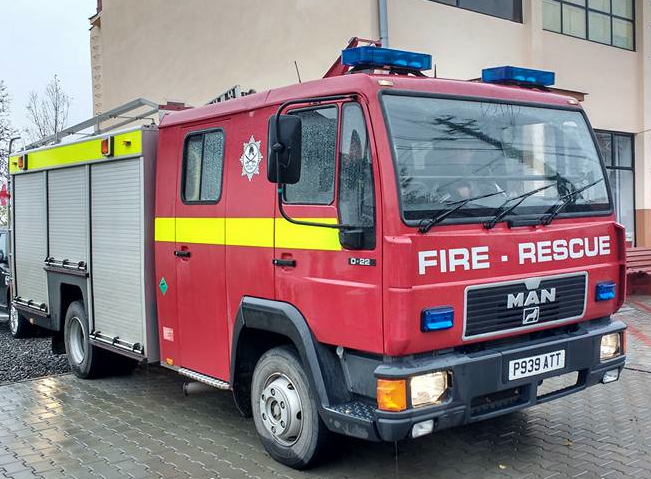 The UK fire appliance driven 1,800 miles to Romania by Operation Sabre