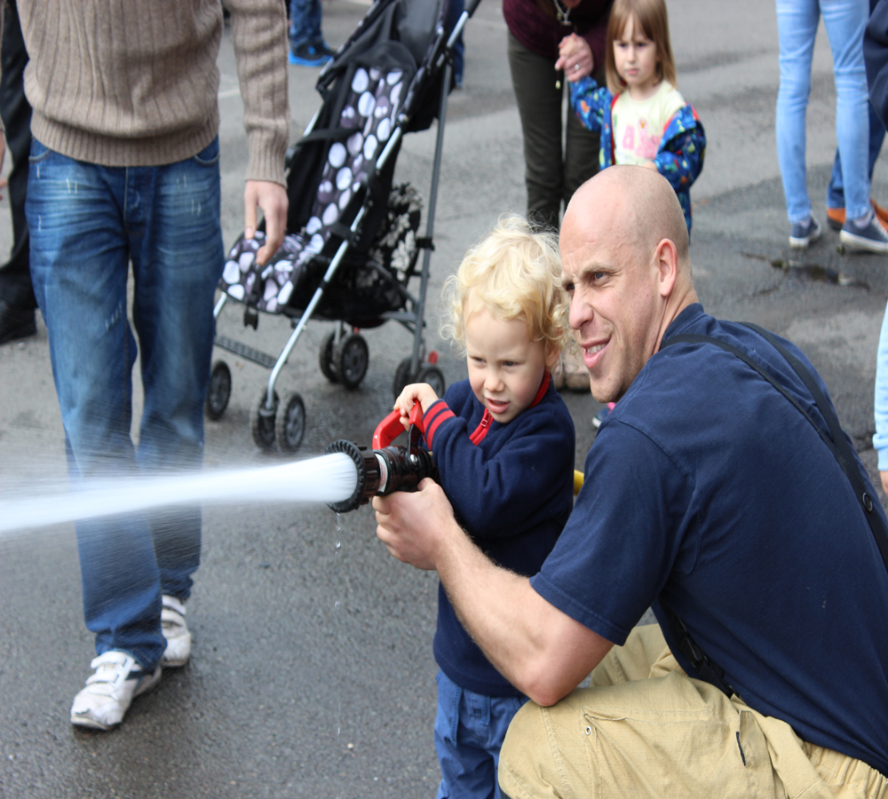 Toddler fun at the family open day at Wellington Fire Station