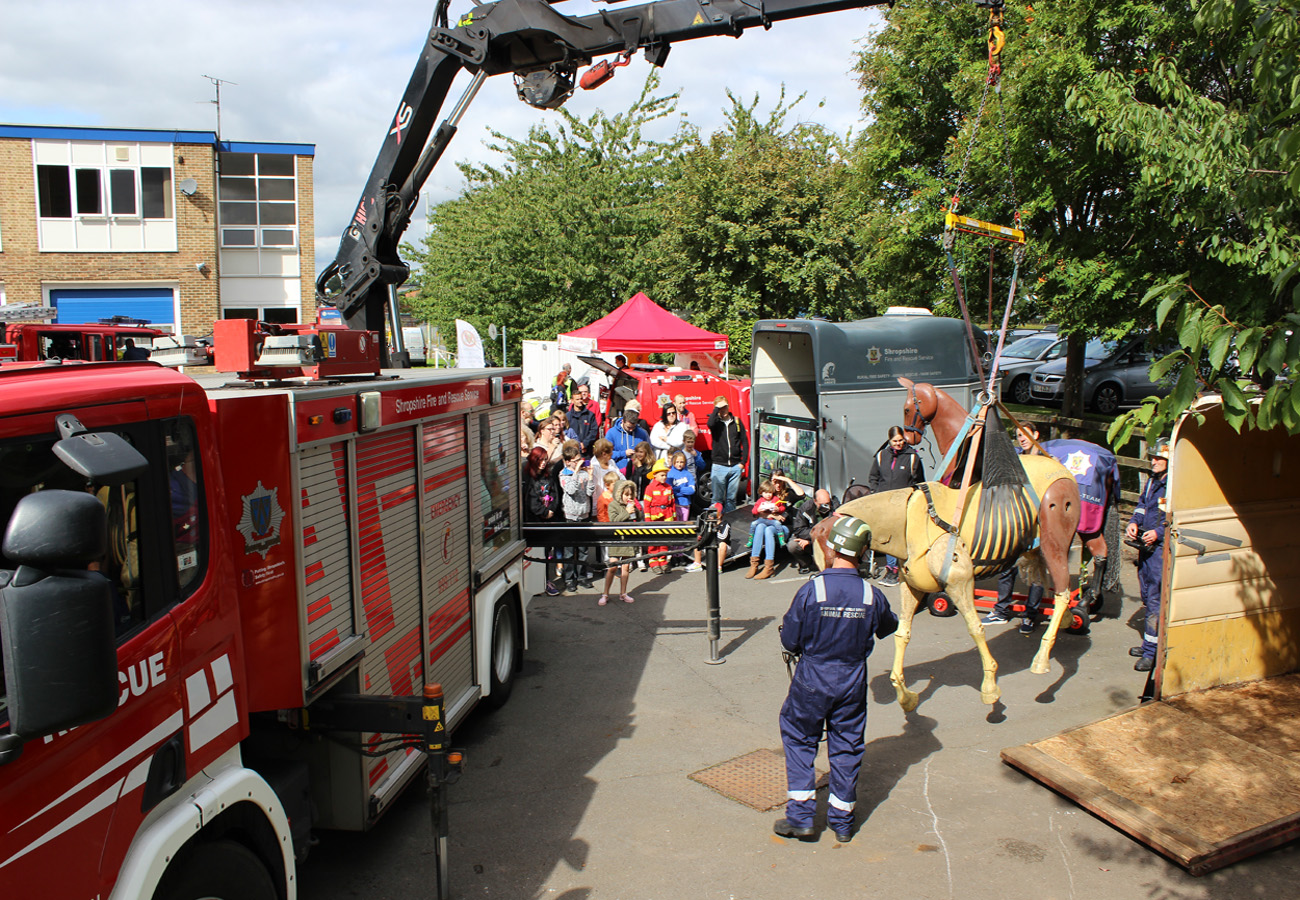 Animal rescue team demo at Wellington Fire Station open day