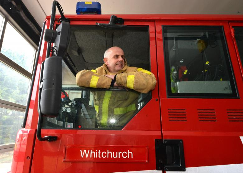 Whitchurch firefighter Graham Field Retires. Image courtesy of Shropshire Star
