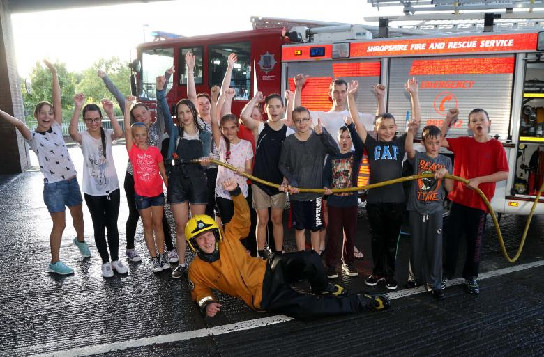 Chernobyl Children Have Fun With Shropshire Firefighters