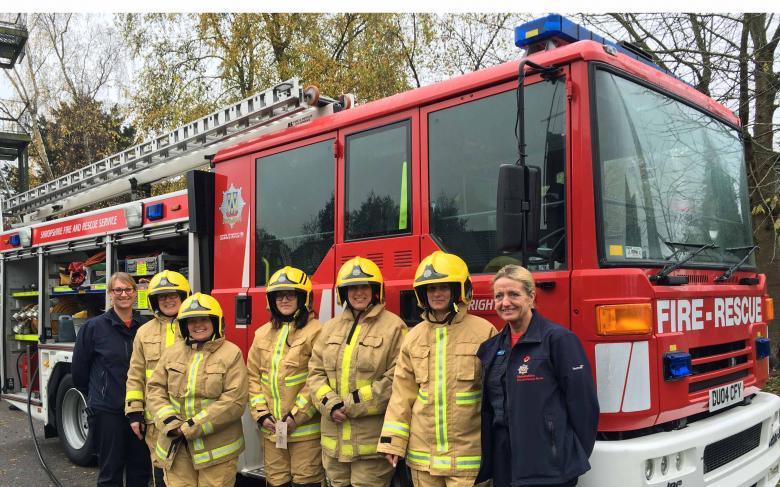 A firefighter taster day for women in Albrighton