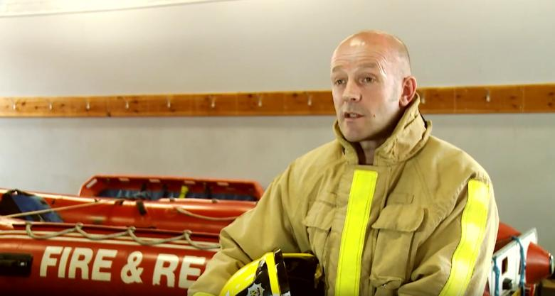 Shropshire firefighter Neil Grady found out he had dyslexia when he was 50.
