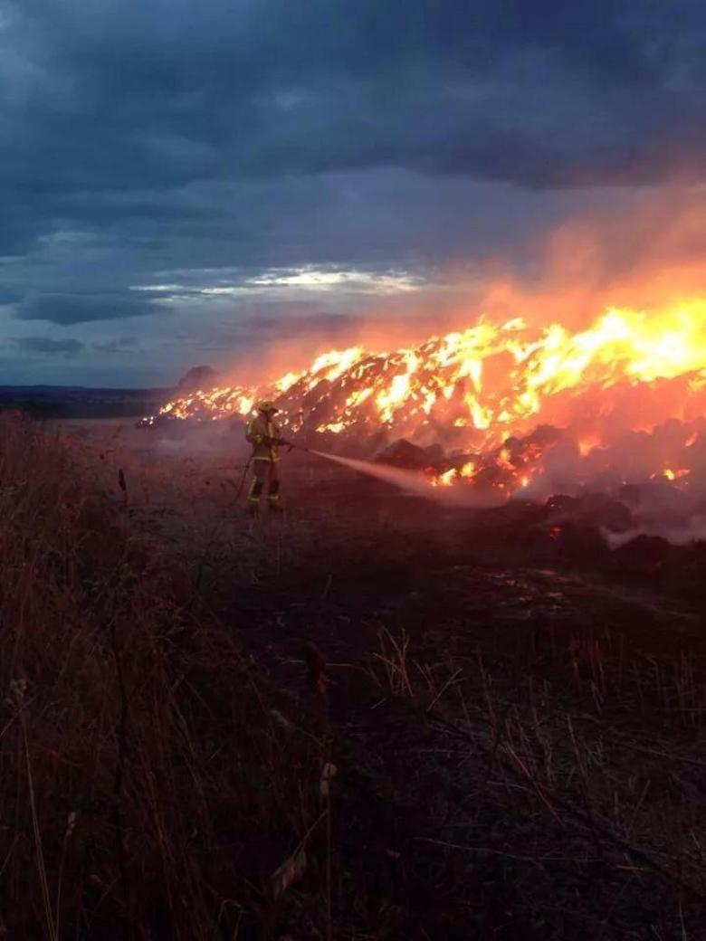Deliberate straw fire in Wrockwardine, Telford