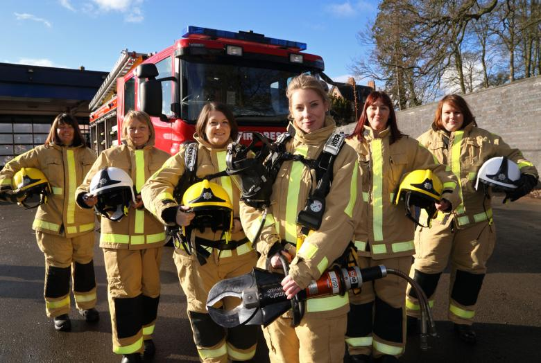 women who want to be firefighters